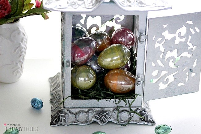 Plastic eggs to looking glass easter hometalk