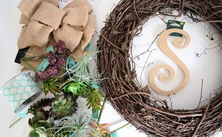 make a spring succulent wreath