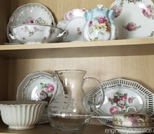 how to organize kitchen cabinets to display fine china