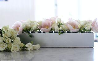 diy silver flower box