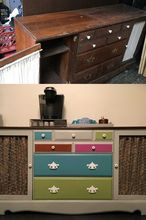 a coffee bar from an old dresser, Original Dresser Repurposed as a Coffee Bar
