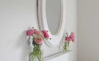 easy display ledge from salvaged crown molding