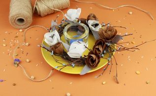 diy crepe paper flower table decoration