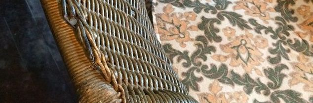 q how do you clean antique wicker that has been painted and is brittle