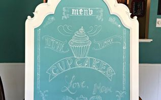a quick painted chalkboard sign upcycled mirror