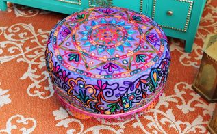 easy no sew ottoman