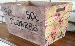kmart wooden box hack for spring