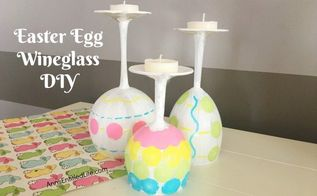 easter egg wineglass diy