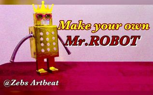 mr robot zebs artbeat junior recycle used cardboard boxes