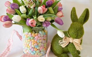 jellybean easter spring centerpiece diy project