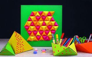diy paper geometric room decor