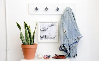 diy cabinet pull coat hanger upcycle