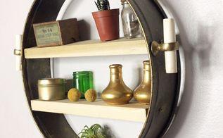 anthropolgie knockoff repurposed cake pan shelf