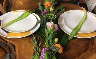 light up spring floral table runner garland