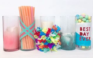 5 ways to decorate a dollar store vase