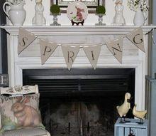 spring mantel decorating ideas our crafty mom