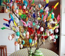 glad pask happy swedish easter with witches and brooms and trees