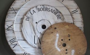 big huge pottery barn inspired wall clock