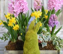 create an easy spring blooming centerpiece for easter