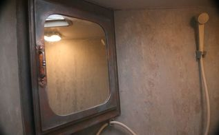 funky old copper door mirror