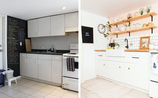 diy basement apartment kitchen