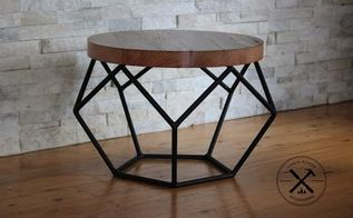 steel industrial pentagon table
