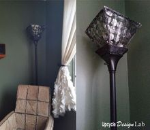 upcycled foil food wrapper lampshade