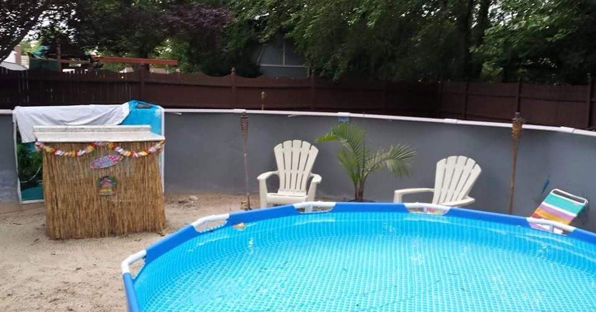 How to convert an above ground pool into a natural pool - How to fix a hole in a swimming pool ...