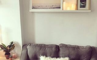 boring empty white wall to feature wall