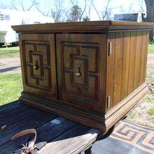 sliding barn door side table, The original table