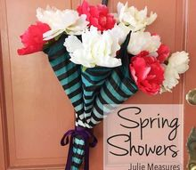 spring showers upcycled crafts