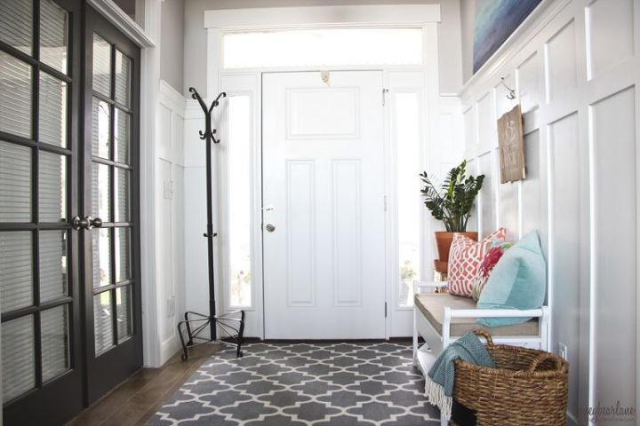 Large Foyer Window Replacement : Coastal entry refresh hometalk