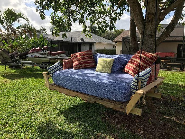 Pallet Swing Bed Modified Idea Found On Pinterest Hometalk
