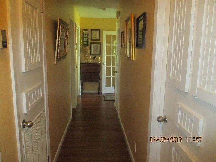 How to update flat doors using throw away cabinet doors for Caulking kitchen cabinets