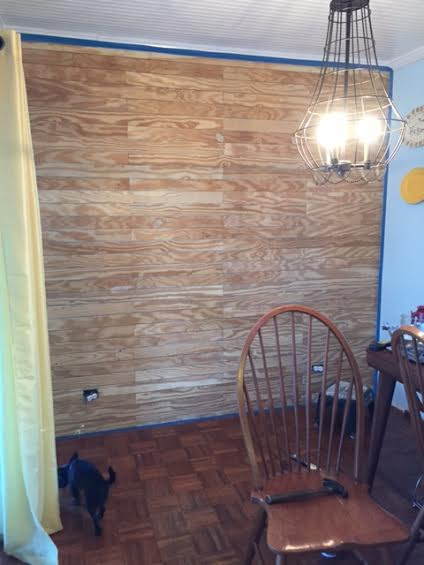 Shiplap wall hometalk for Kitchen cabinets lowes with canvas mason jar wall art