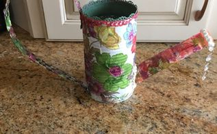 watering can bird feeder decoration or flower pot your choice, Finished