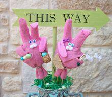 garden glove bunny decor