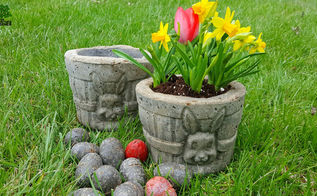 hypertufa easter basket garden planters eggs too