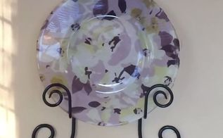 decorative plate diy using fabric