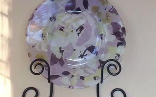 decorative plate diy using fabric