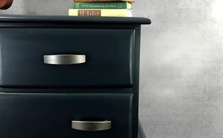 how to paint a masculine blue dresser