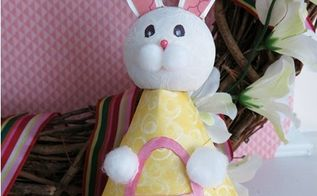 paper plate easter bunny figure a project for all ages