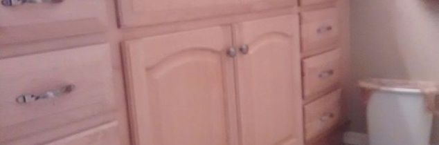 q can you re paint stain prefinished cabinets without sanding them