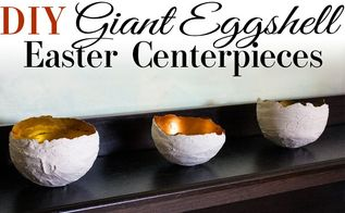 diy giant eggshell easter centerpieces