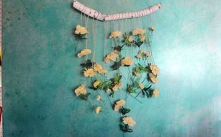 diy dollar store floral wall hanging