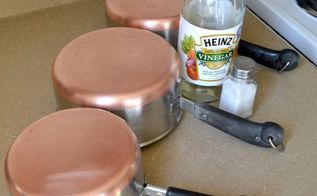 how to clean copper bottomed pots