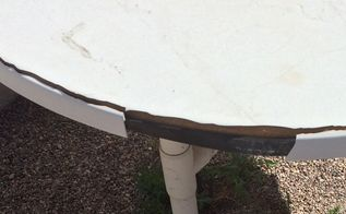 q ideas for outdoor umbrella table rehab