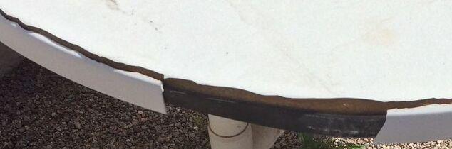q ideas for outdoor umbrella table rehab