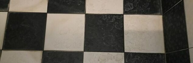 q need help on removing stains on bathroom tiles