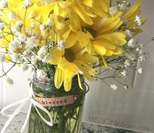 budget bouquet gift idea with a little surprise bling